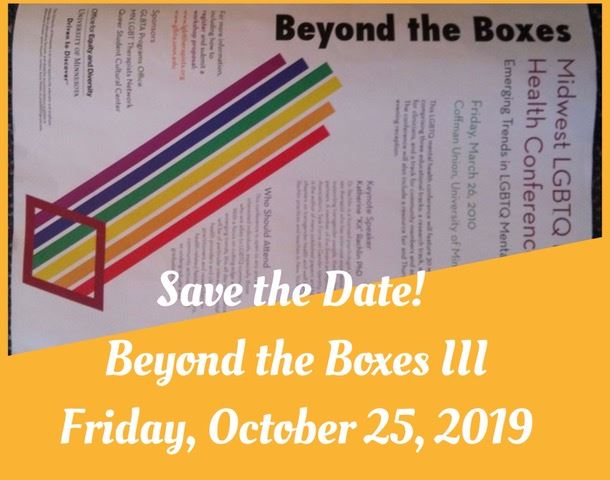 MN LGBTQ+ Therapists' Network - Beyond the Boxes III: MN